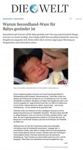 Die Welt: Warum Secondhand-Ware für Babys gesünder ist